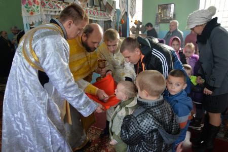 Архиерейское богослужение в Покровском храме села Виноградово