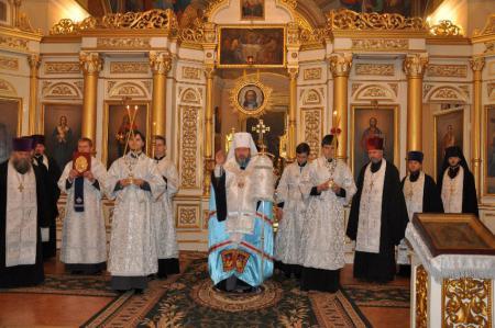 Архиерейские богослужения в Неделю о Закхее