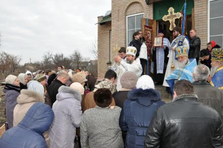 Престольный праздник в Сретенском храме с. Камышаны