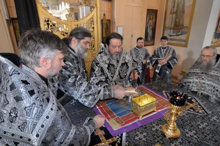 Архиерейское богослужение в пятницу первой Седмицы Великого поста