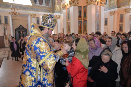 Пребывание частицы Ризы Пресвятой Богородицы в Свято-Духовском кафедральном соборе Херсона