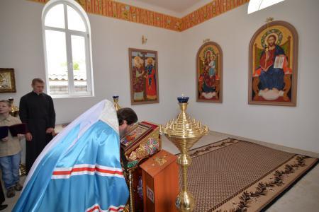 В день праздника Вознесения Господня митрополит Иоанн освятил новопостроенную часовню