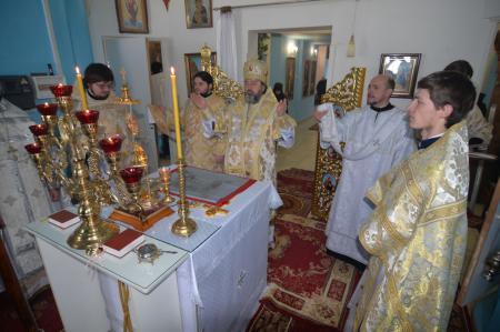 Архиерейское богослужение в Благовещенском монастыре