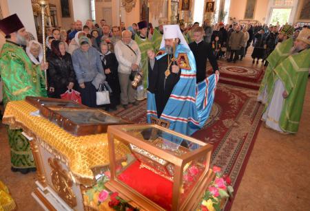 Встреча  мощей святого Иоанна Предтечи в Свято-Духовском кафедральном соборе Херсона
