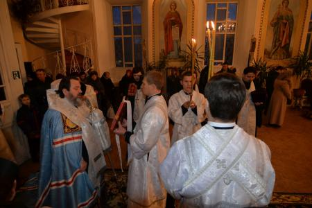 Всенощное бдение накануне праздника Крещения Господня