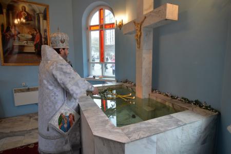 Праздник святого Богоявления в Свято-Духовском кафедральном соборе Херсона