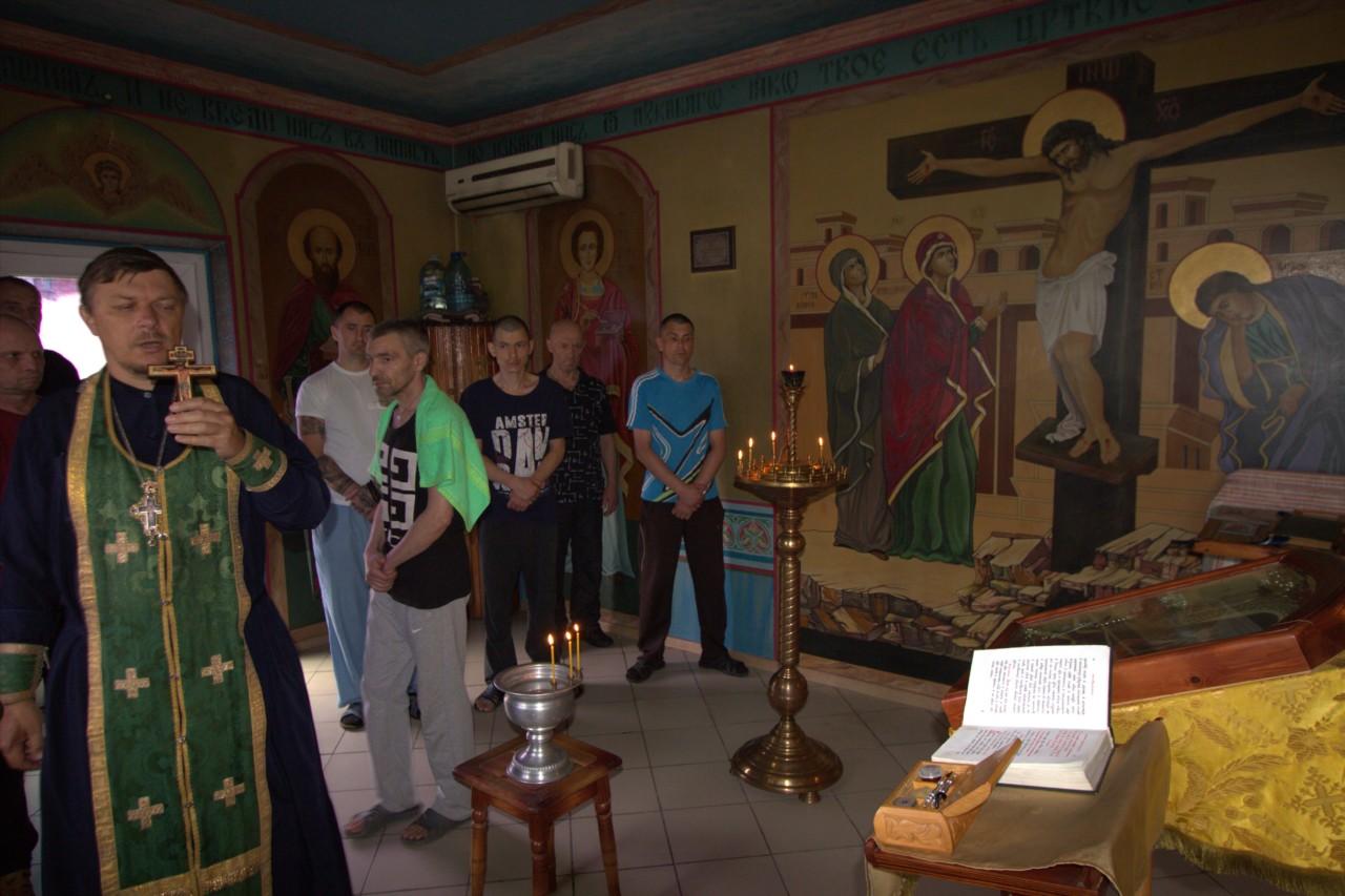 В тюремных храмах Херсона причастили и исповедовали пожизненников